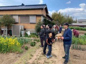 上櫛田駅跡付近の路盤跡