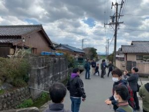 櫛田川へアプローチするための橋台跡