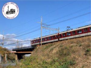 中勢鉄道跡と近鉄名古屋線交差の付近